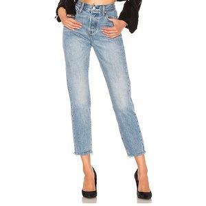 Levi's Wedgie Icon Fit Raw Hem Jeans Sz 28